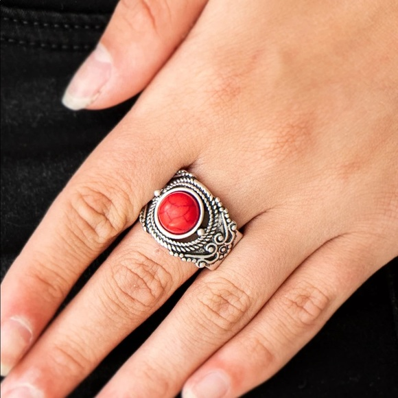 Stand Your Ground Red Stone Ring